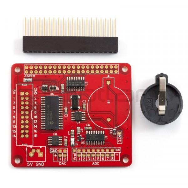 Expander Pi - pin header expander for Raspberry Pi - 16 pins I / O + 8 ADC  + 2 DAC*