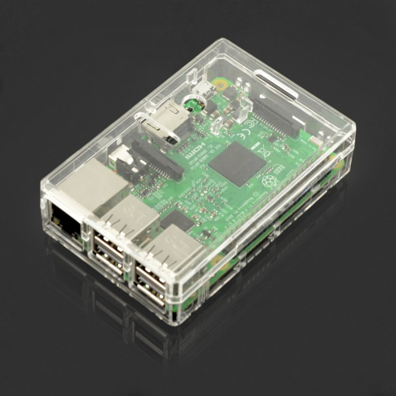 Case Raspberry Pi Model 3B+/3B/2B- transparent*