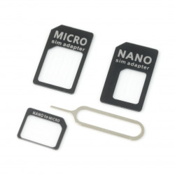 Adapter do kart micro i nano SIM czarny