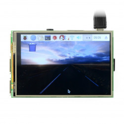"Resistive touch screen TFT LCD display of 3.5"" 480x320px for Raspberry Pi 3B/3/2"