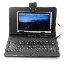 Ekran LCD TFT 7'' 1024x600px dla Raspberry Pi 3/2/B+ etui+klawiatura+mysz+zasilacz