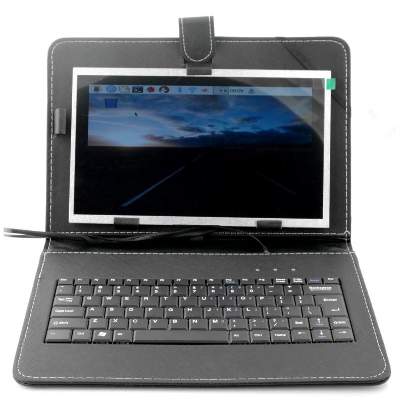 Ekran LCD TFT 10,1'' 1024x600px dla Raspberry Pi 3B+/3B/2B/B+ - etui+klawiatura+mysz+zasilacz