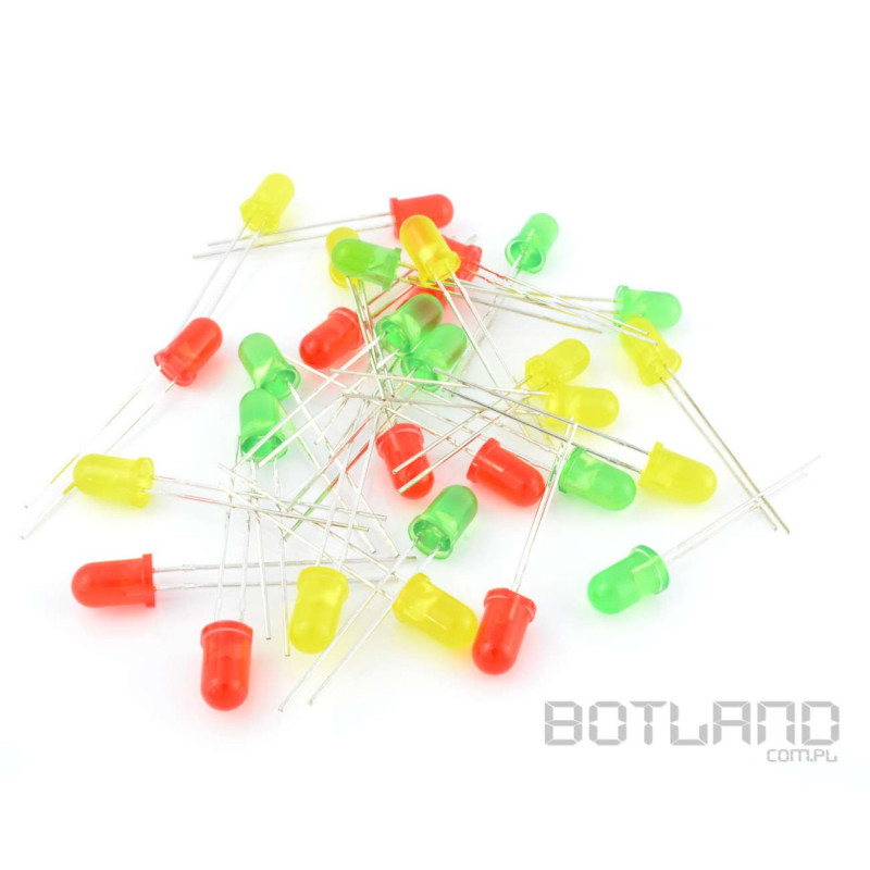Set of 5mm and 3mm LEDs - 60pcs