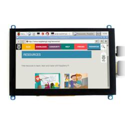 Ekran dotykowy pojemnościowy LCD TFT 5'' (H) 800x480px HDMI + USB Rev. 2.1 dla Raspberry Pi 3B+/3B/2B/Zero