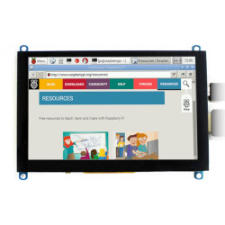 "Capacitive touch screen TFT LCD display 5"" (H) 800x480px HDMI + USB Rev. 2.1 for Raspberry Pi 3B+/3B/2B/Zero"
