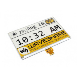 "Waveshare E-paper, E-Ink (C) and 7.5"" 640x384px display with color trim HAT for Raspberry Pi"