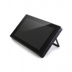 Ekran dotykowy pojemnościowy LCD IPS 7'' (H) 1024x600px HDMI + USB dla Raspberry Pi 3B+/3B/2B/Zero obudowa czarna