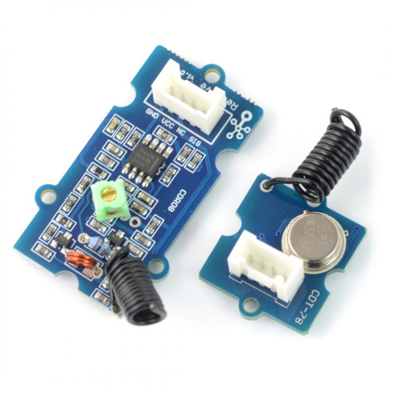 Grove - radio transmitter + 433MHz receiver module_
