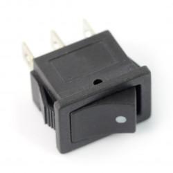 Przełącznik chwilowy, kołyskowy MRS101B-C3B 250V/6A