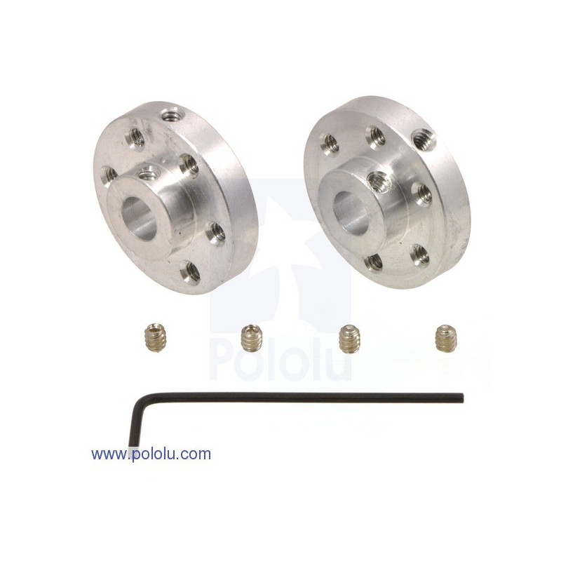 Aluminum mounting hub 6mm 4-40 - 2pcs.
