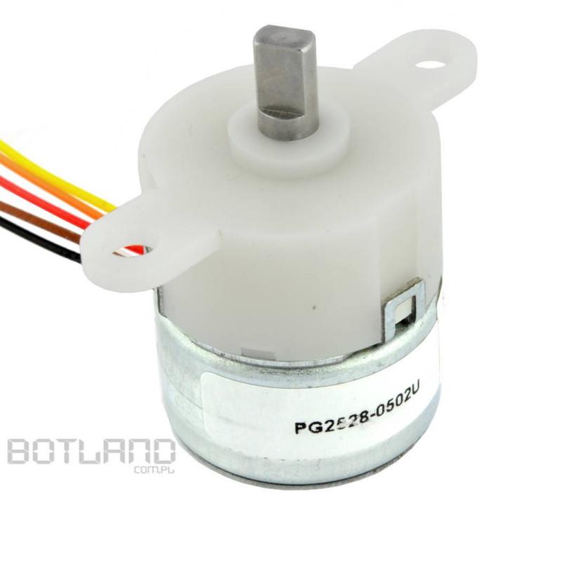 Silnik krokowy z przekładnią PG2528-0502U 5V/ 0.2A/ 0,5Nm