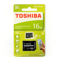Memory card Toshiba Exceria micro SD / SDHC 16GB UHS-1 class 10 with adapter