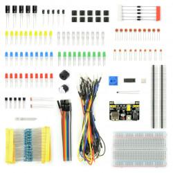 Zestaw elementów elektronicznych - E24 - 235 elementów - nie tylko dla Arduino