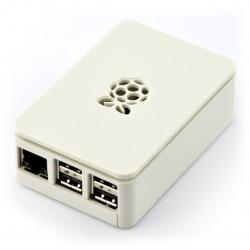 Obudowa Raspberry Pi Model B+ RS - białaz klapką