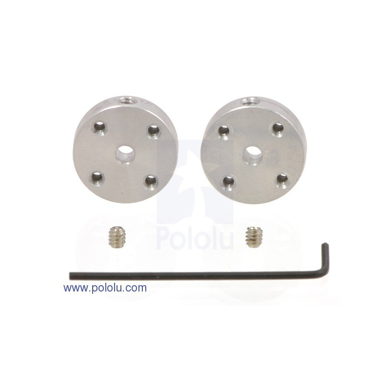Aluminum mounting hub 3mm 2-56 - 2pcs