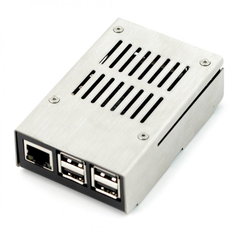 W superbly Obudowa Raspberry Pi Model 3B+/3B/2B - metalowa - Sklep dla robotyków DN03