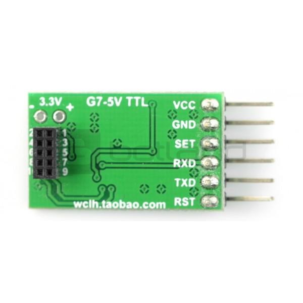 Adapter IDC 10pin 1,27mm - 2,54mm dla czujnika PMS7003