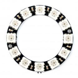 Pierścień LED RGB WS2812 5050 x 12 diod - 38mm