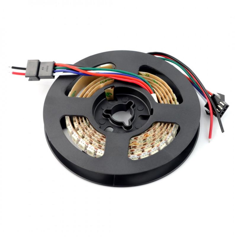 Pasek LED RGB WS2813 - cyfrowy, adresowany - 144 LED/m, 43,2W/m, 5V - 1m, IP30