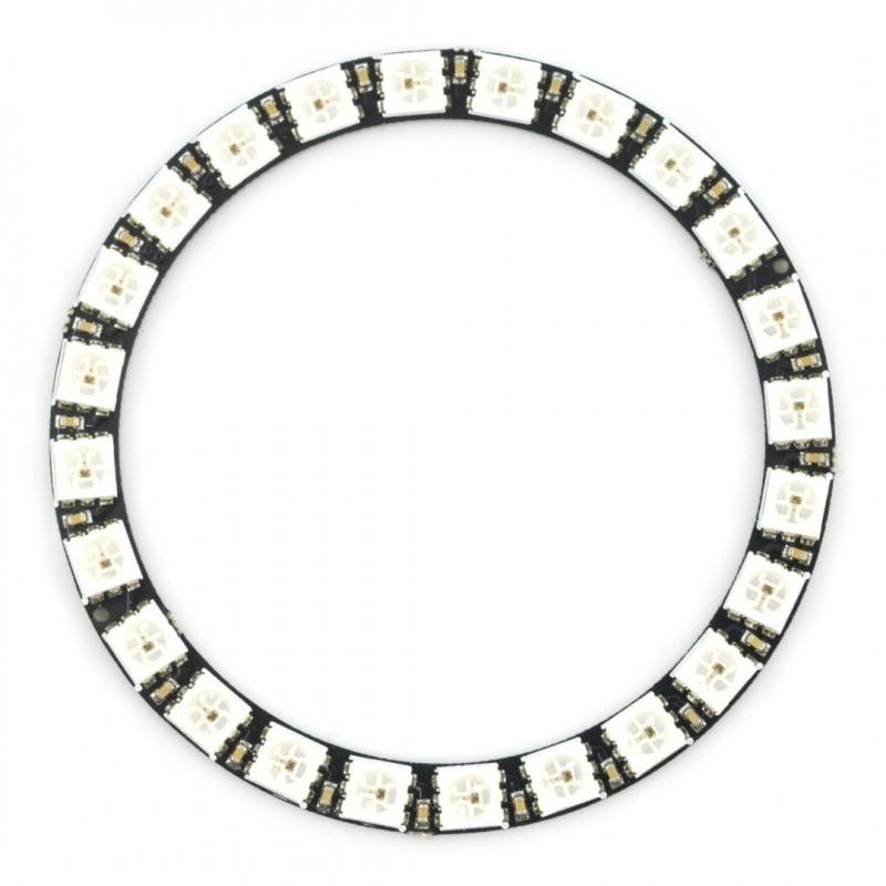 Pierścień LED RGB WS2812 5050 x 24 diody - 68mm