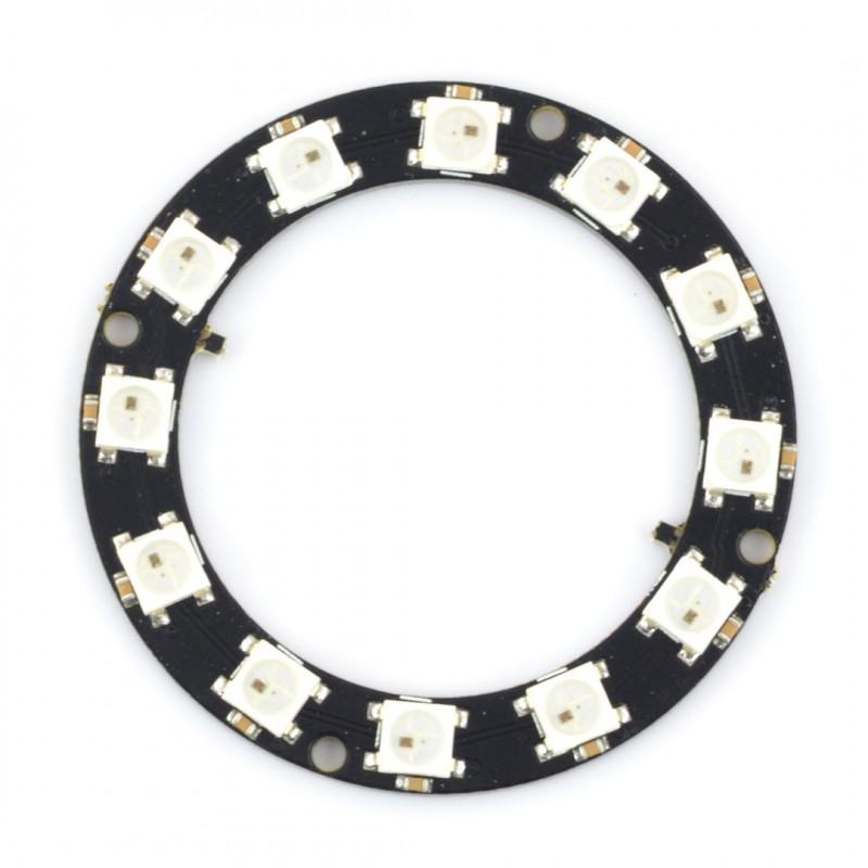 Pierścień LED RGB WS2812B 5050 x 12 diod - 50mm