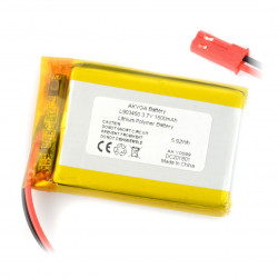 Akumulator Li-Pol Akyga 1600mAh 1S 3.7V - złącze JST-BEC + gniazdo