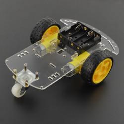2-kołowe podwozie robota z silnikami - prostokątne