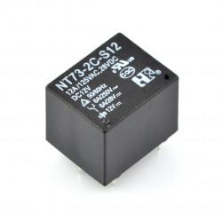 Przekaźnik NT73-2C-S12 - cewka 12V, styki 2x 12A/125VAC