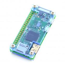 Obudowa Raspberry Pi Zero - Fluo Open - niebieska