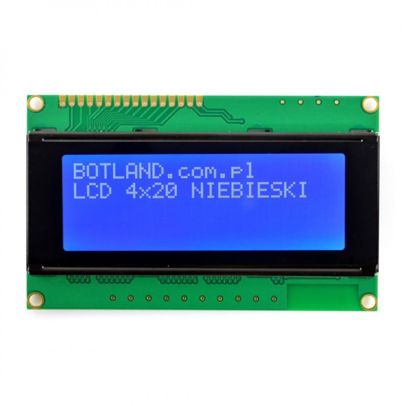 Wyświetlacz LCD 4x20 znaków niebieski