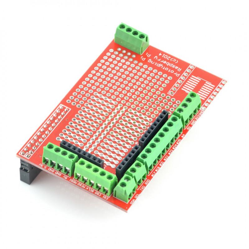 Płytka prototypowa THT 26pin ze złączami śrubowymi dla Raspberry Pi