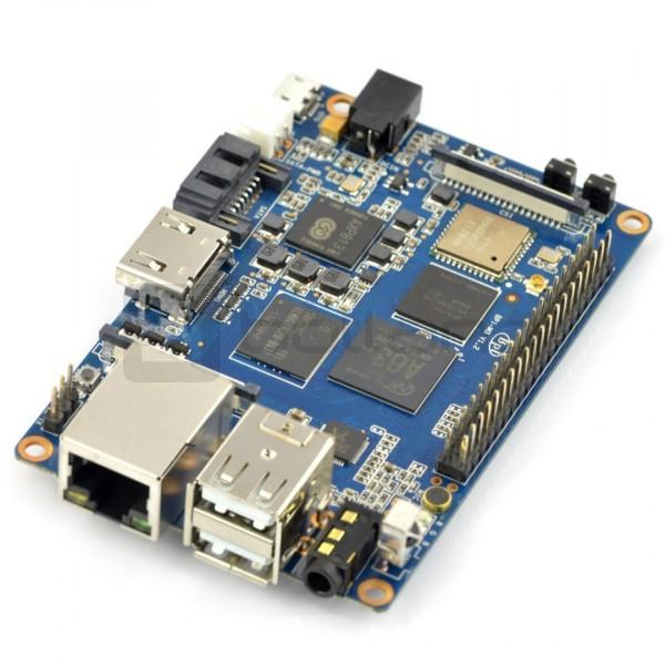 Banana Pi M3 2GB RAM + 8GB EMMC Octa-Core WiFi - gniazdo DC