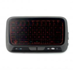 Klawiatura bezprzewodowa Smart H18+ klawiatura + mysz - czarna z podświetlaniem