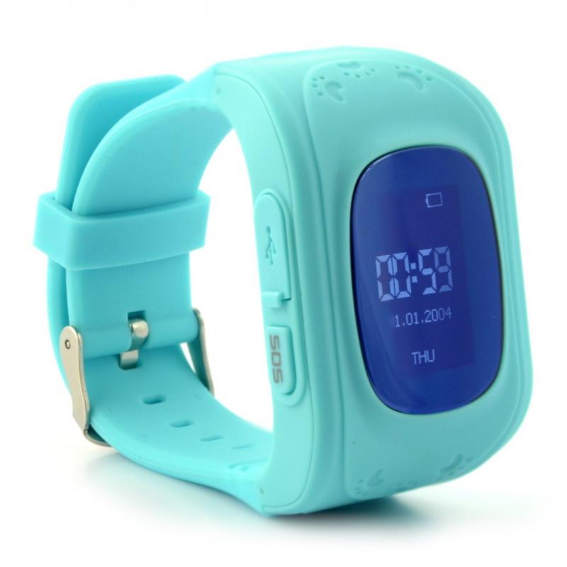 Zegarek dla dzieci z lokalizatorem GPS ART LOK-1000B - turkusowy
