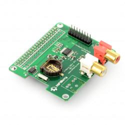 HiFiBerry DAC+ RTC - karta dźwiękowa do Raspberry Pi 3B/2B/B+/A+