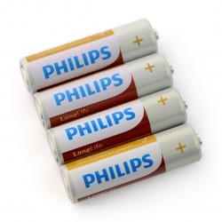 R6 4TAC Philips Longlife bat. - 4szt.
