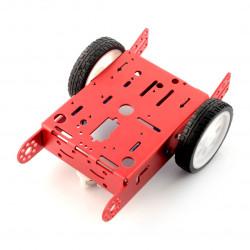 Red chassis 2WD 2-kołowe, metalowe podwozie robota z napędem