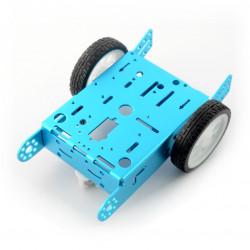 Blue chassis 2WD 2-kołowe, metalowe podwozie robota z napędem