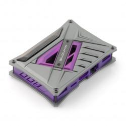 Obudowa Khadas VIM - szaro-fioletowa z żelazną płytką