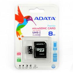 Karta pamięci Adata microSD 8GB 50MB/s UHS-I klasa 10 z adapterem