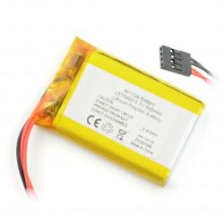 Akumulator Li-Pol Akyga 980mAh 3.7V - 4 przewody - złącze żeńskie 2,54mm