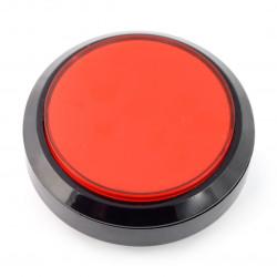 Push button 10cm - czerwony - płaski