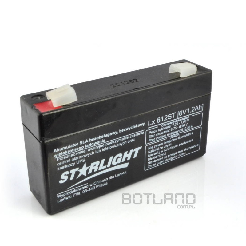 Gel battery 6V 1.2 Ah ST
