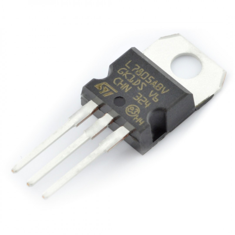 Linear voltage regulator 5V L7805ABV - THT TO220