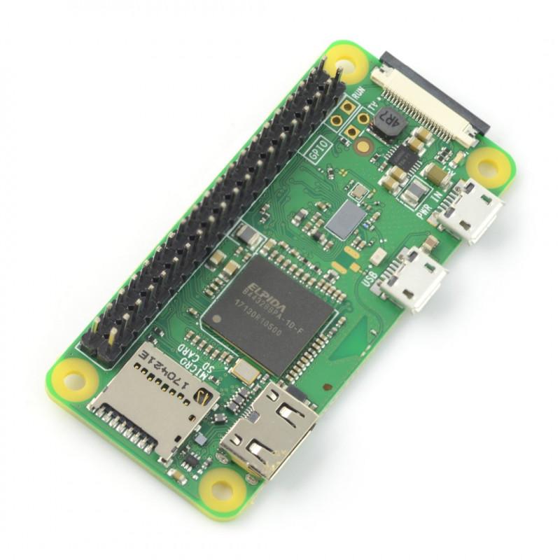 Raspberry Pi Zero WH 512MB RAM - WiFi + BT 4.1 - ze złączami