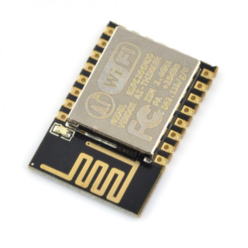 WiFi module ESP-12E ESP8266 Black - 11 GPIO, ADC, PCB antenna*