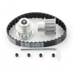 Pas zębaty 10x180mm + koło zębate 12T - 8mm - 2szt.