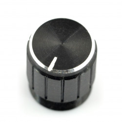 Gałka potencjometru GCL15 czarna - 15mm