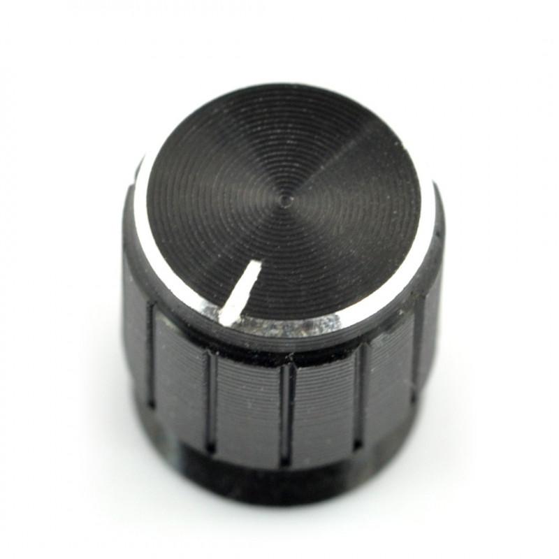 Gałka potencjometru GCL15 czarna - 6/15mm