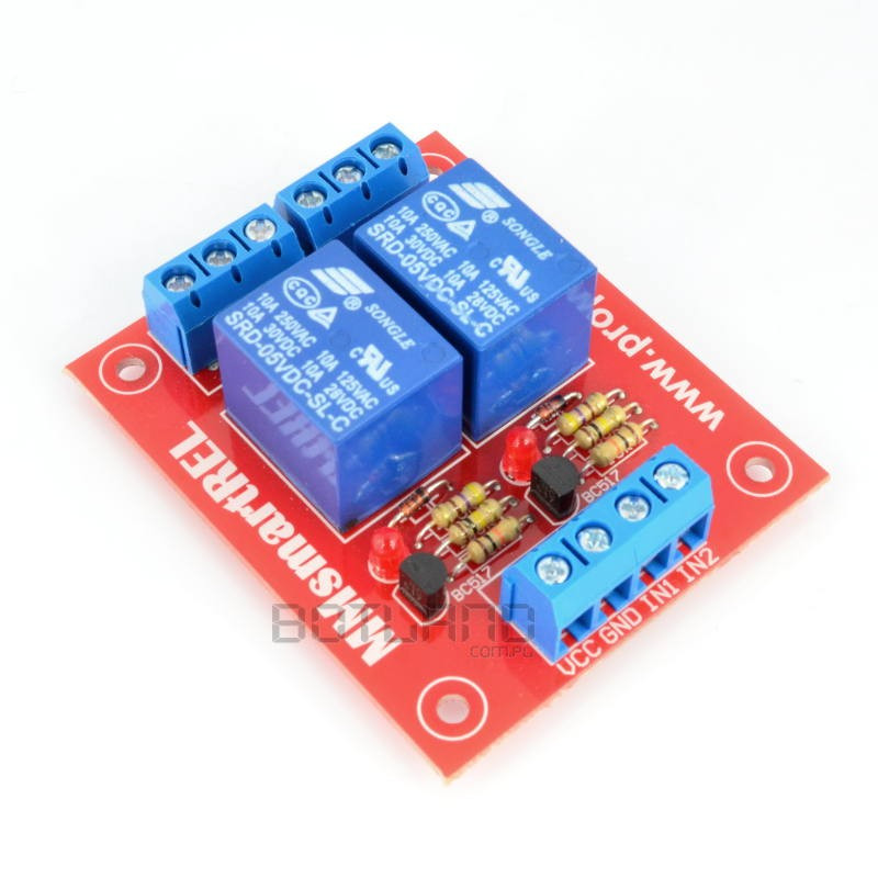 Two-channel module with relays 5V 10A / 250VAC